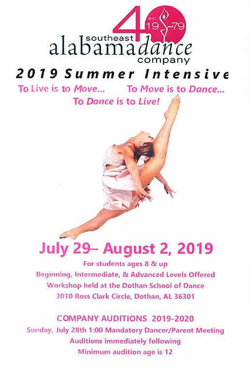 2019 SEADAC Summer Intensive flyer